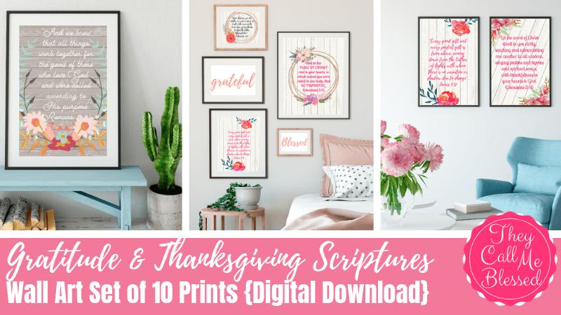 NEW Gratitude & Thanksgiving Scriptures Printable