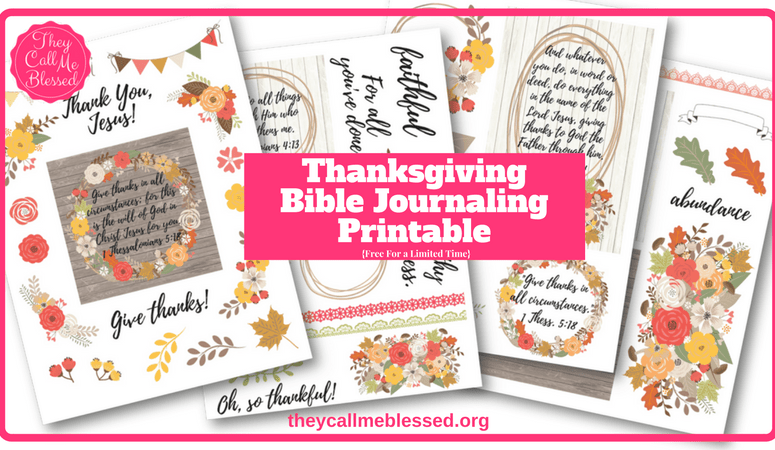 Free Thanksgiving Bible Journaling Printable