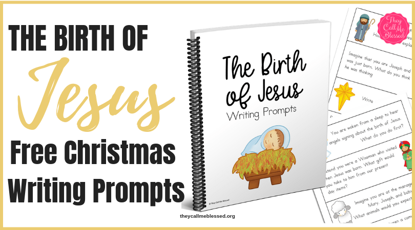 picture about Free Printable Writing Prompts known as The Beginning of Jesus Xmas Composing Prompts No cost Printable