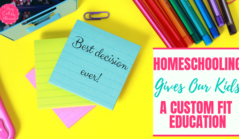 Homeschooling to Give Our Kids a Custom Fit Education