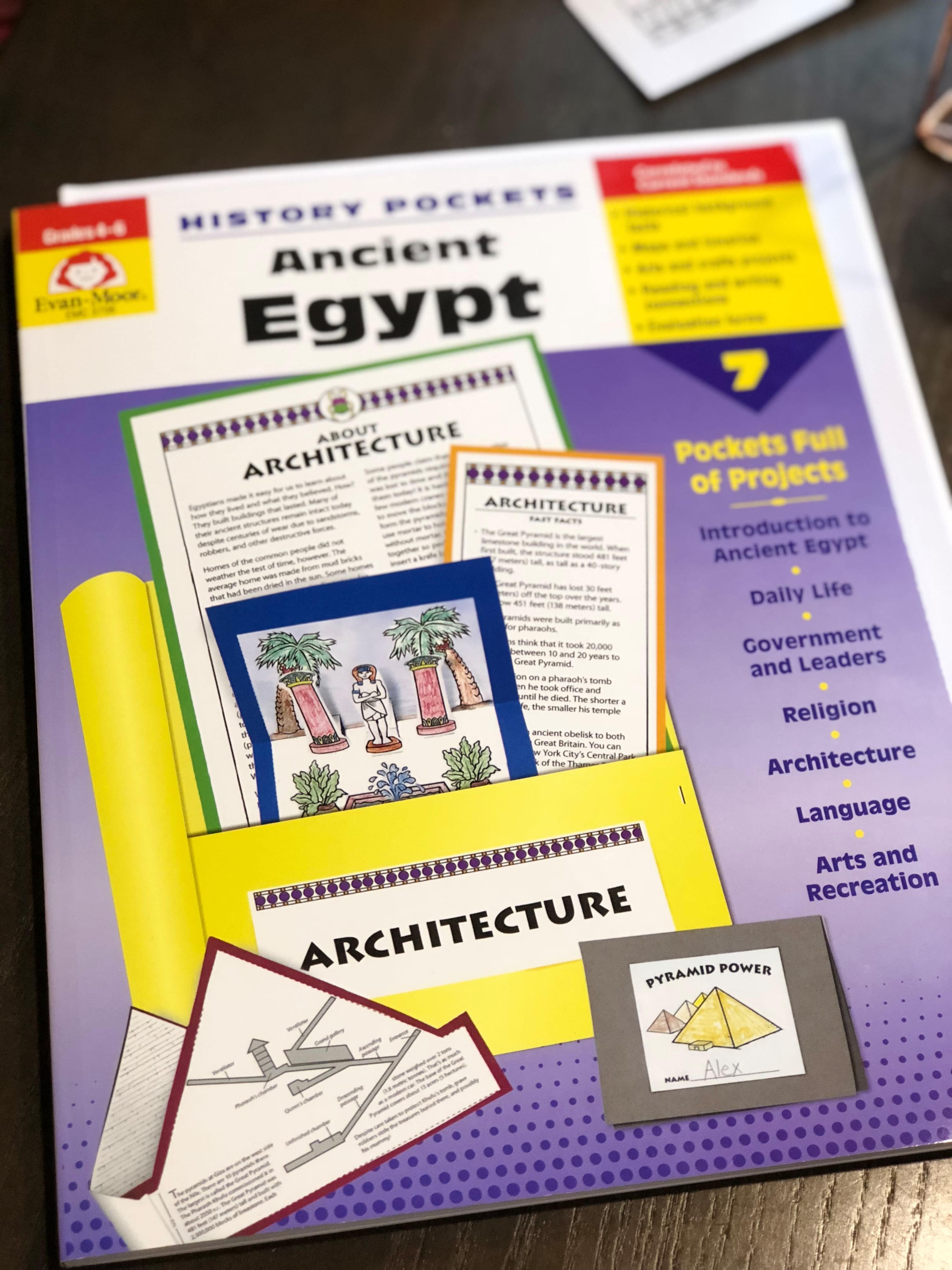 Homeschool History Review: Evan-Moor's History Pocket Ancient Egypt
