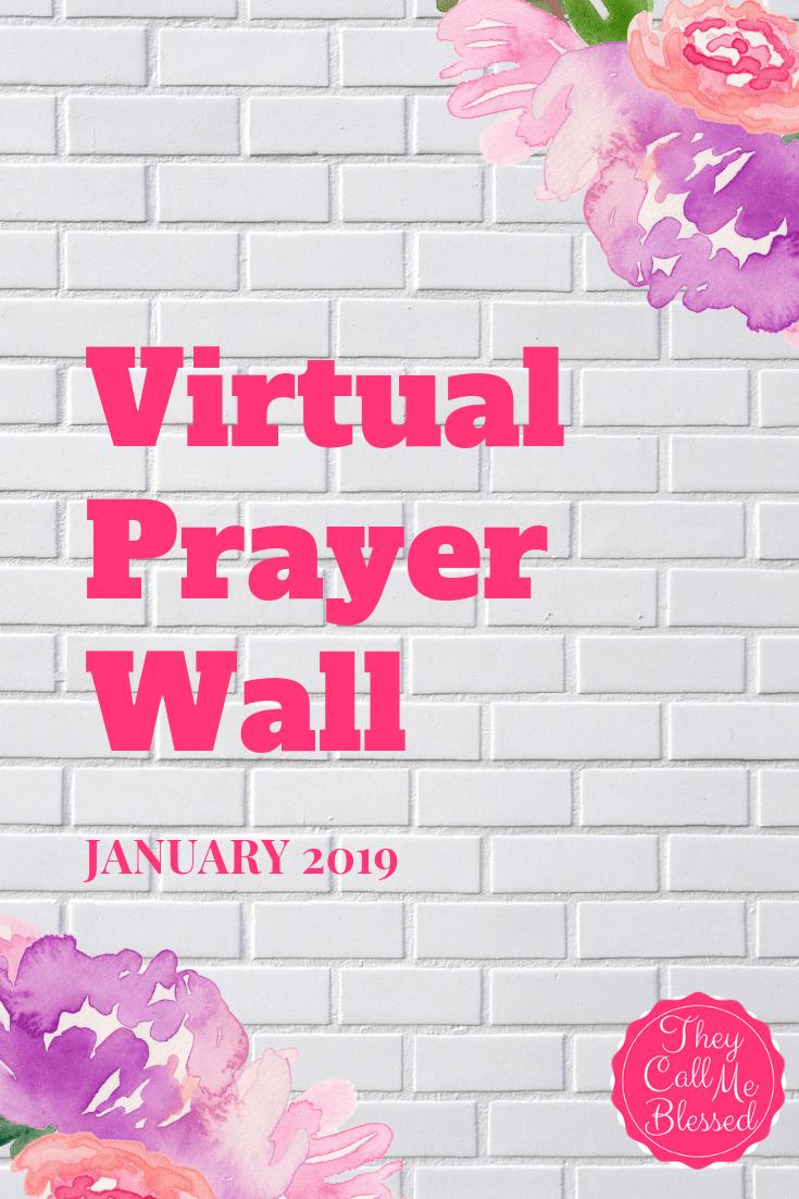 January Virtual Prayer Wall