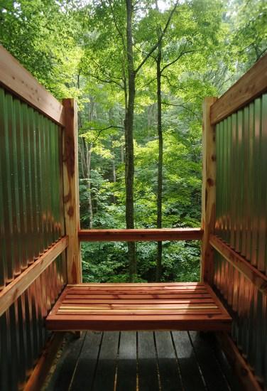 Simple Cedar Outdoor Shower Design The Year Of Mud