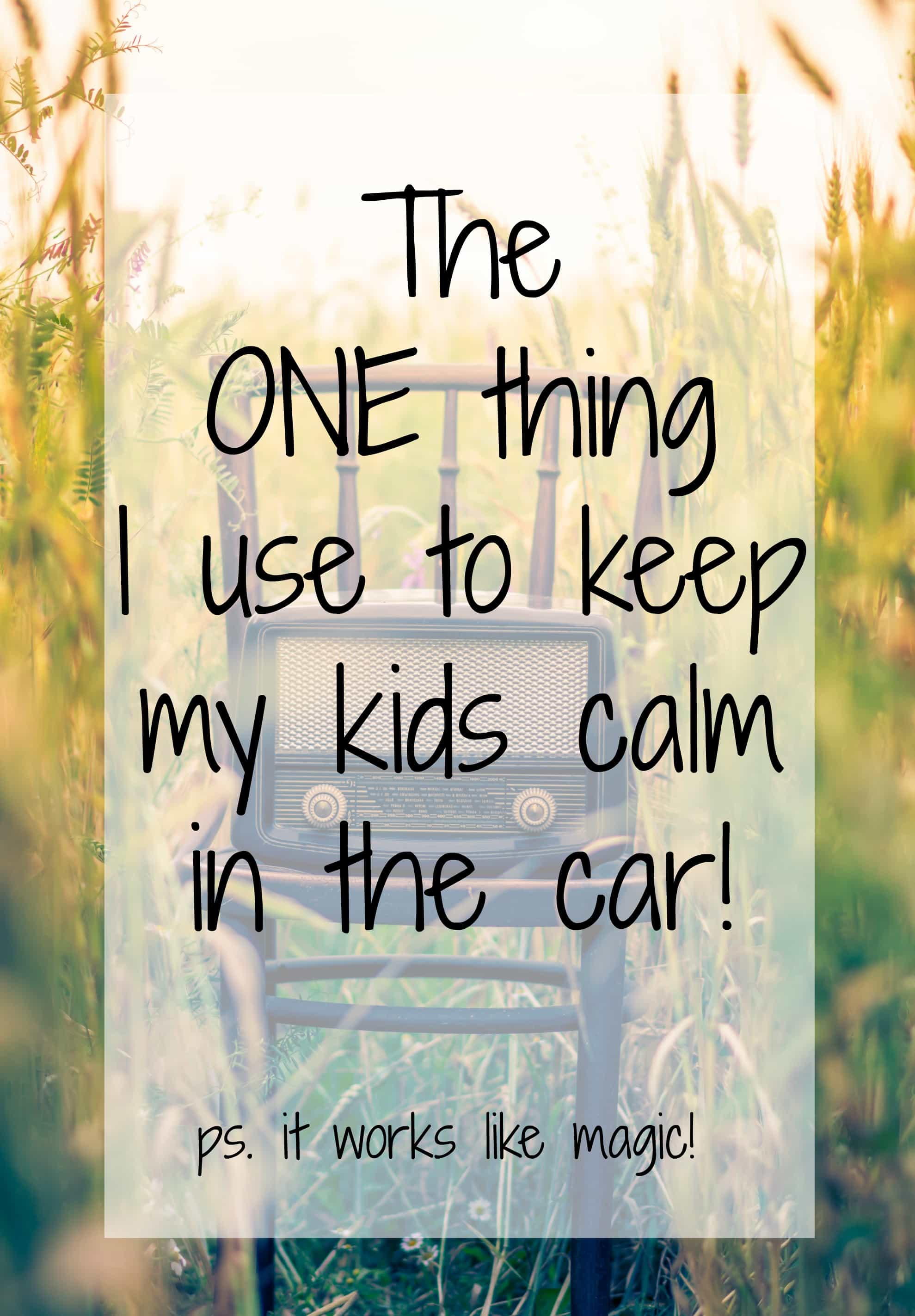 Are you looking for an EASY way to maintain peace between your children while in the car? Try my trick!