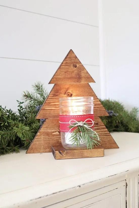 DIY wood sconce. Christmas tree mason jar sconce tutorial