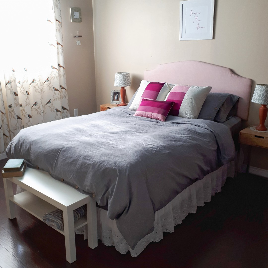 Refreshing my master bedroom with new sheets, bedding and pillows! I love finding creative ways to DIY on a budget!