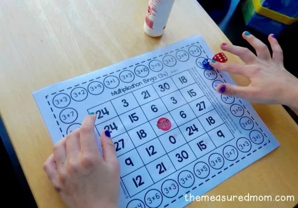 Multiplication bingo game for single players