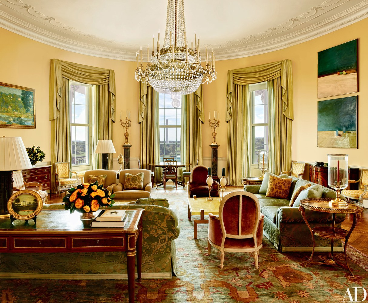 american furniture warehouse living room rugs chairs ethan allen photos: obama reveals private areas of white house ...