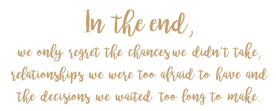 Abschied nehmen: we only regret the chances we didn't take