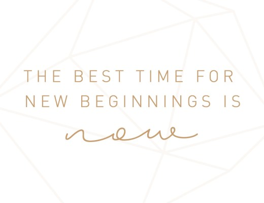 New Beginnings Montagsmantra Zitat Quote the best time for new beginnings is now