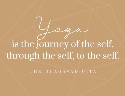Montagsmantra Quote of the day Zitat Bhagavad Gita Yoga is the journey of the self, through the self, to the self