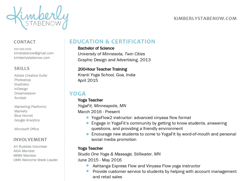 How to Create the Perfect Yoga Teacher Resume  The Yoga