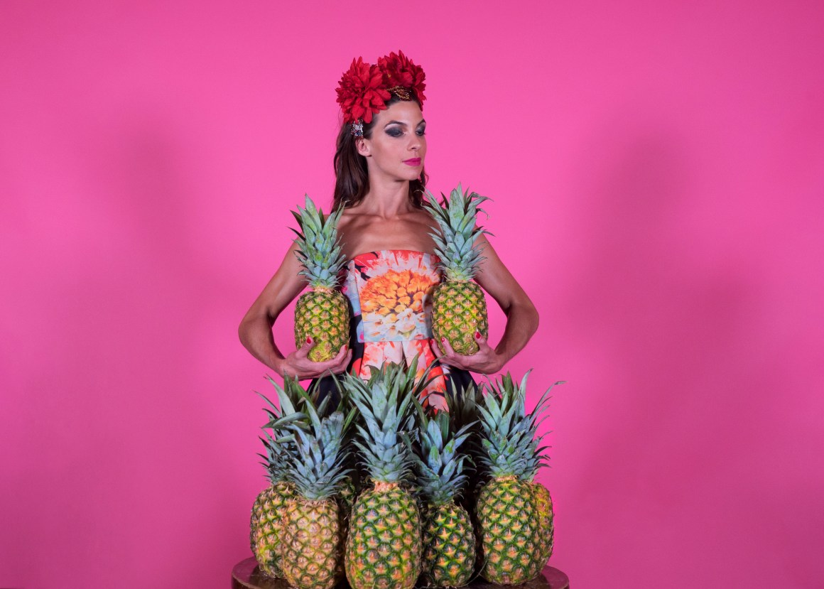 Pink Nat with Pineapples -®Drew Cox