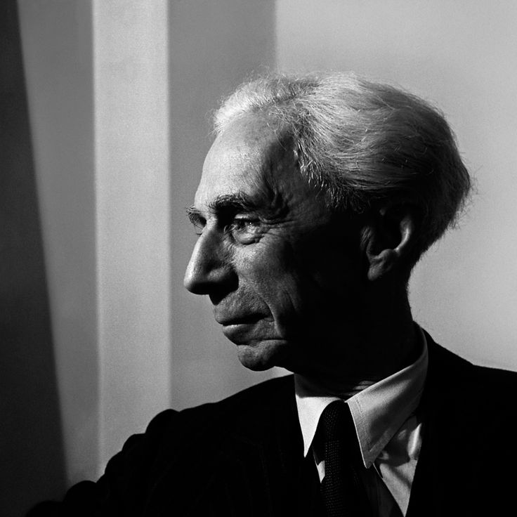 Bertrand Russell on his wedding day, 1949