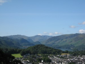 Keswick and Derwent Water in the Lake District, North-West England. Photo: Emily Dunn.