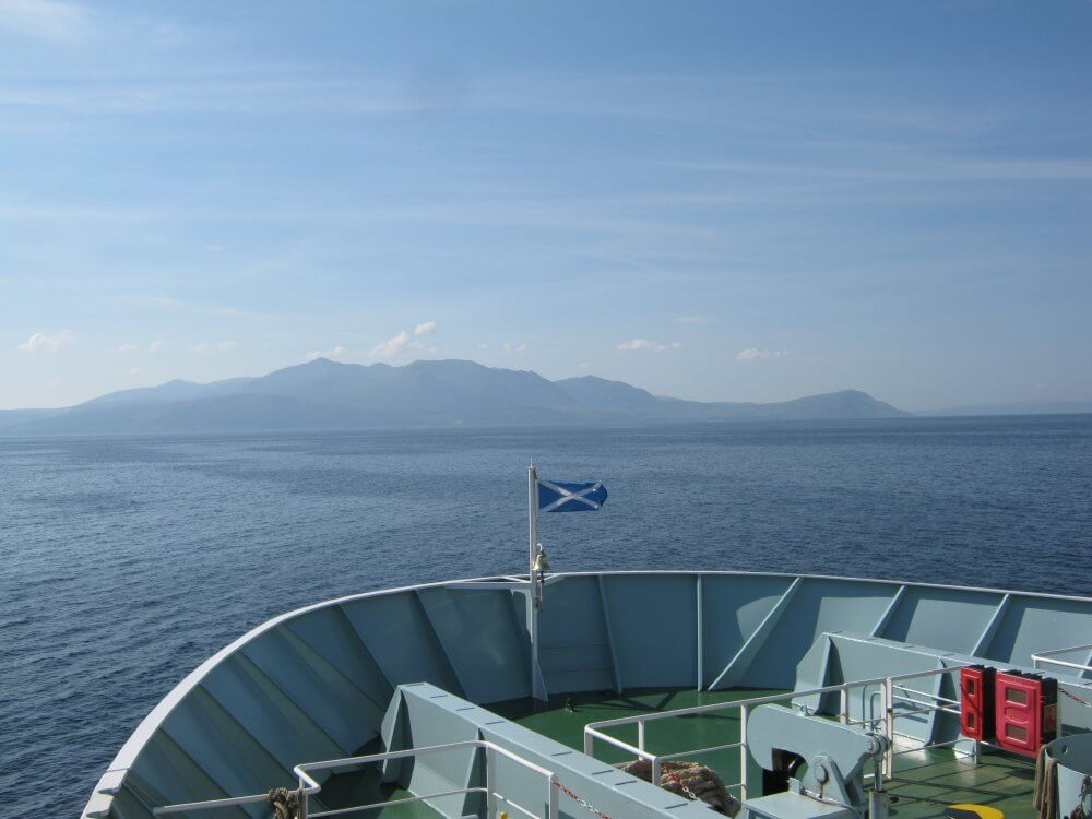 Aboard the ferry to the Isle of Arran, Scotland.