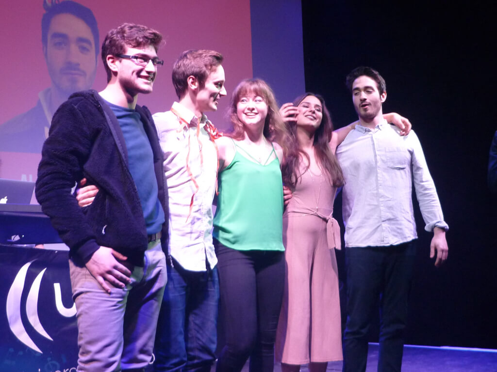 The Sabbatical Officers of 2017-2018, pictured on the night of their election, due to finish their tenure at the end of this week. Image: The Yorker