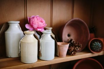 Vintage stoneware and terracotta pots - lovely patination and colour