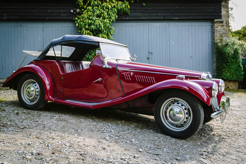 Vintage MG Wedding Car Hire Yorkshire Dales