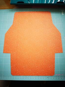 Orange envelope made with cricut explorer air 2