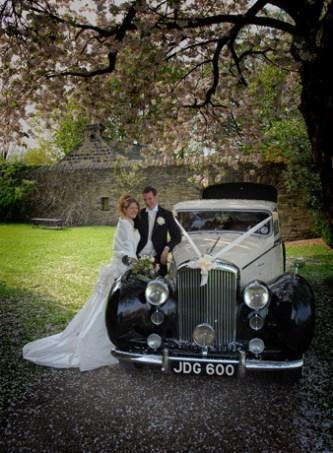 1950 Bentley on location - vintage wedding car