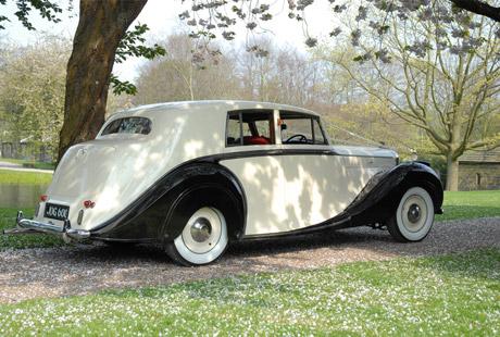 1950 Bentley on location 2 - vintage wedding car