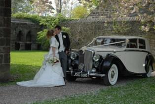 1950 Bentley on location 3 - vintage wedding car