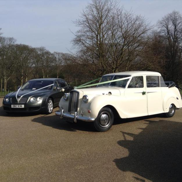 White Bentley Flying Spur Hire: Wedding Car Hire