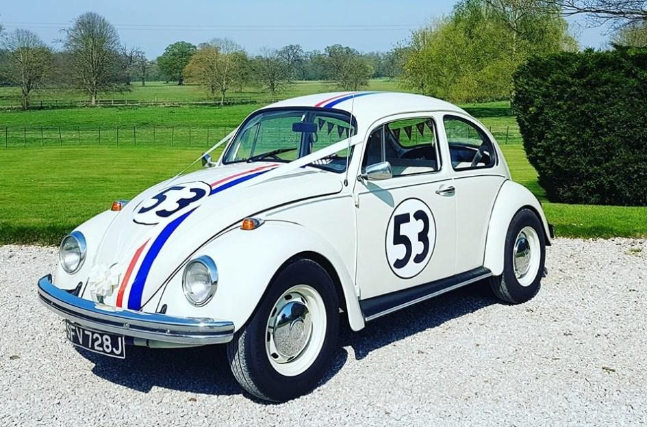 Herbie The Love Bug Wedding Car