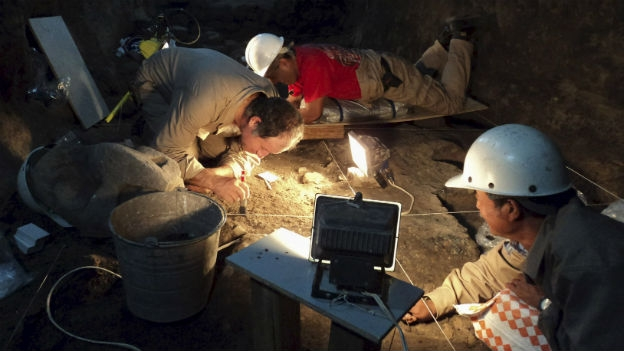 Archeologist found liquid mercury under a pyramid in Teotihuacan. (Photo: Reuters/Courtesy INAH )