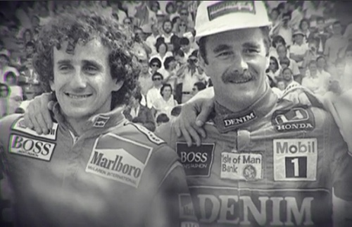 Alain Prost and Nigel Mansell in Mexico 1986 (caranddriver)