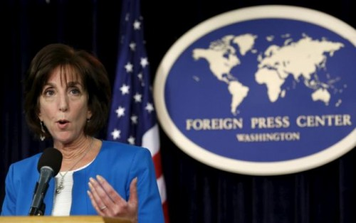 Photo: Reuters.com U.S. Assistant Secretary of State for Western Hemisphere Affairs Roberta Jacobson speaks at a news conference in Washington, REUTERS/Yuri Gripas