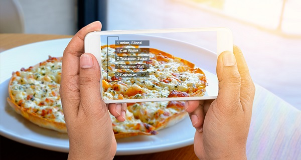 example of getting nutritional information via AR