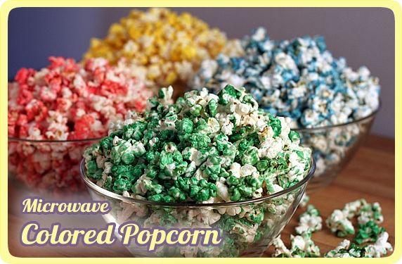 microwave colored popcorn