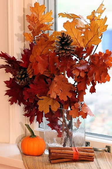 Fall Leaves And Pumpkins Wallpaper Easy Fall Decor