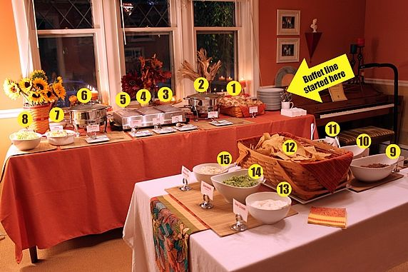 A Mexican Buffet Dinner Party