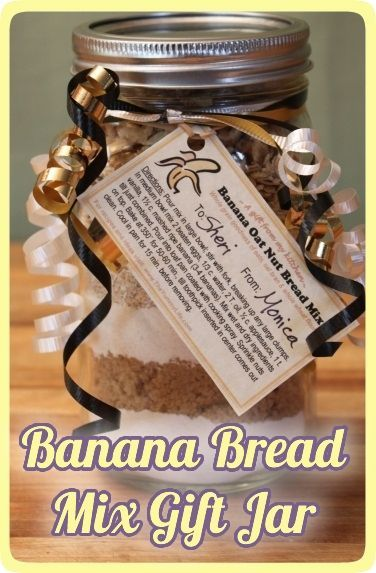Make A Banana Bread Mix Gift Jar