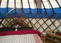 new bed in the mini yurt
