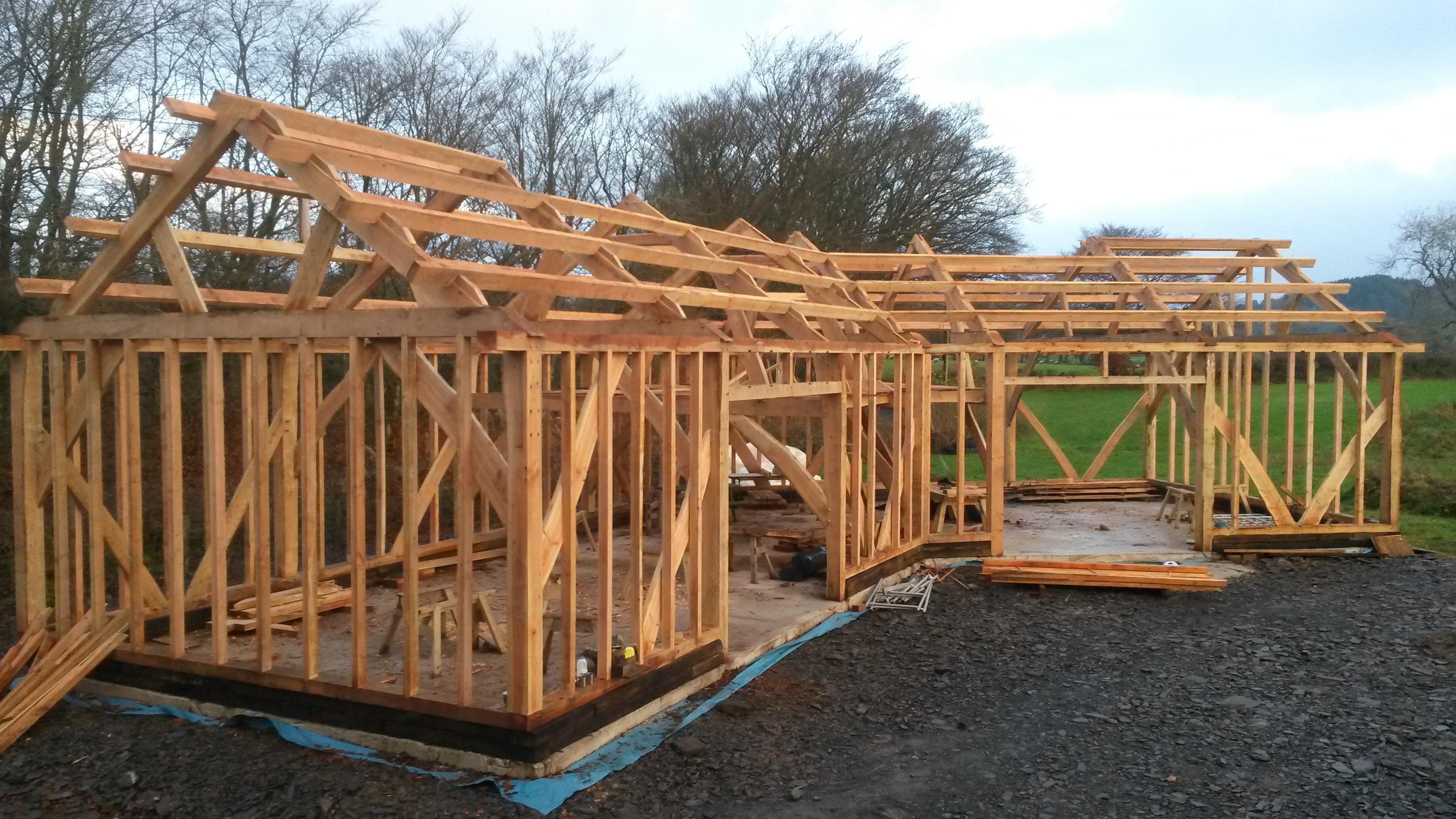 Timber Frame Barn Building - The Yurt Farm