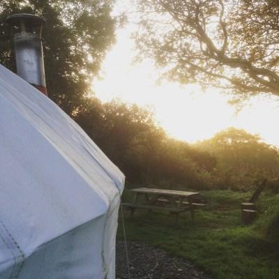 sunrise over the orange yurrt