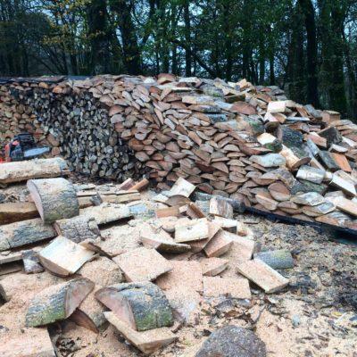 Replenishing the woodstack