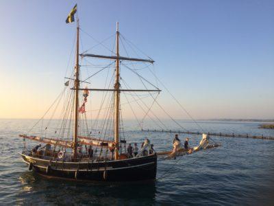 Tall ship in Aberaeron