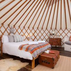 Double Sofa Bed Mattress Sure Fit Covers Reviews Larch Yurt | The Retreat