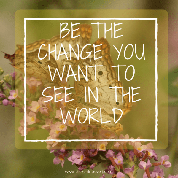 Be The Change You Want to See in TheWorld