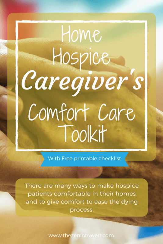 There are many ways to make hospice patients comfortable in their homes and to give comfort to ease the dying process. Physical comfort care makes all the difference in the world to a person in transition.