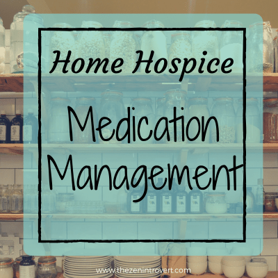 Home hospice medication care is knowing what the patient's prescribed drugs are and when to give them to keep the dying safe and comfortable.