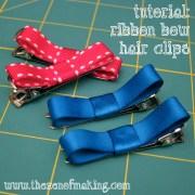 tutorial ribbon bow hair clips
