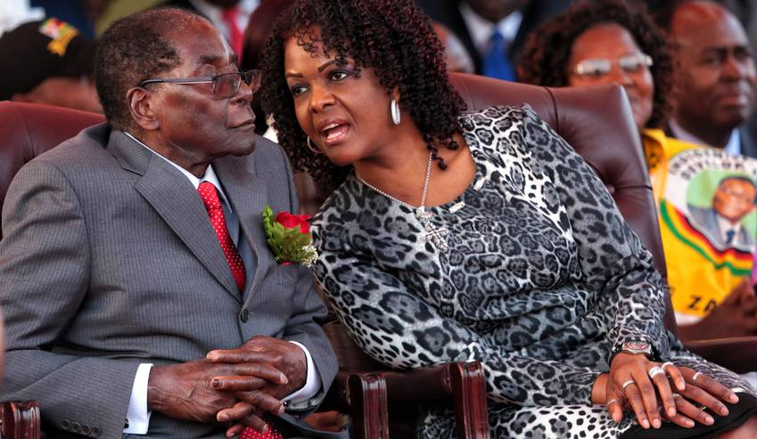 Robert Mugabe's wife seeks diplomatic immunity