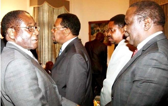Tsvangirai and Mugabe