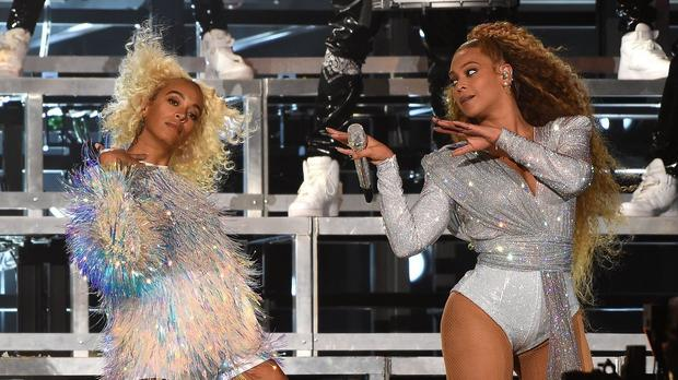 Beyonce fell on stage during a performance in the USA